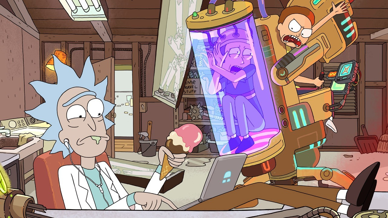 beste-serier-aa-se-paa-mens-man-spiser-middag-rick-and-morty
