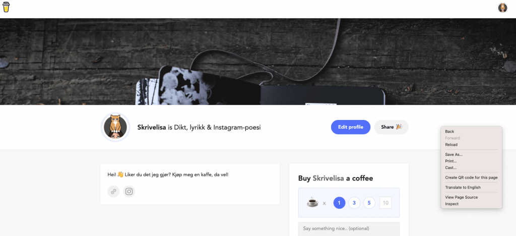 skjermdump-av-buymeacoffee-siden-min